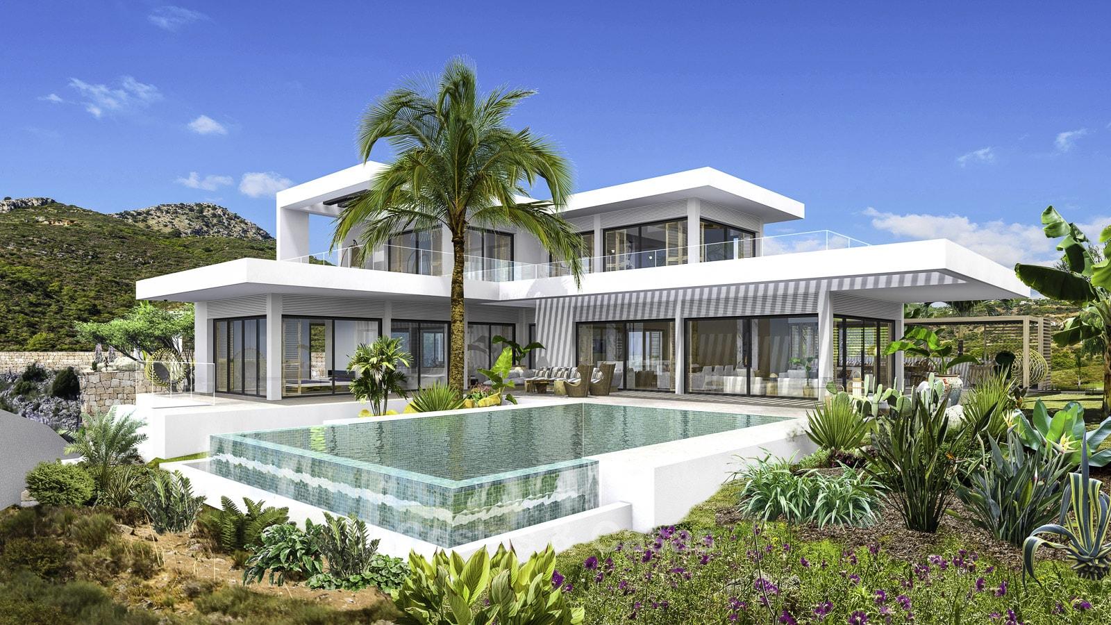 Villa de luxe moderne neuve avec vue panoramique sur la mer à vendre -  Benahavis, Marbella